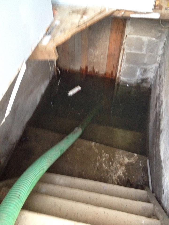 sewage flood